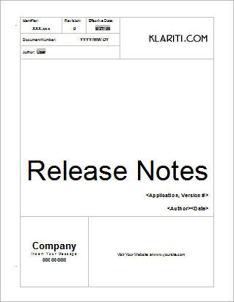 Build Document Template by Release Notes Template Other Files Documents And Forms