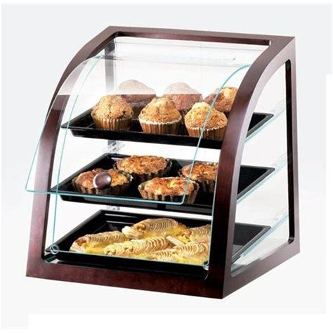 folding food tray cal mil display curved front self service bakery 3
