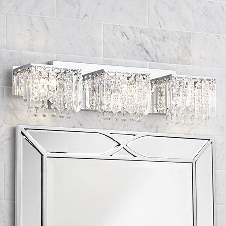 "Possini Euro Design Crystal Strand 25 34"" Wide Bath Light"