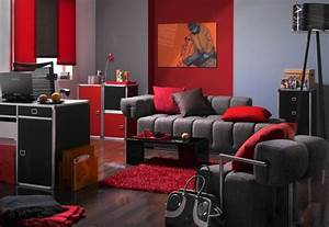 Black and red living rooms decorating ideas 2017 2018 for Red and black room designs