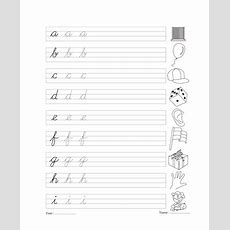 Cursive Writing Book 4 Printable Coloring Worksheet