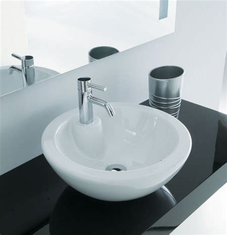 rubinetto per lavabo da appoggio lavabo appoggio degas con foro per rubinetto