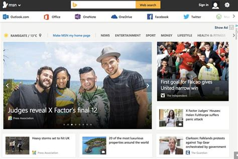 Msn Home Page : Bing Vs New Msn With Social Sign-in Options