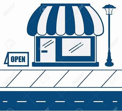 Business Sidewalk Clipart Storefront Vector Maine Clip