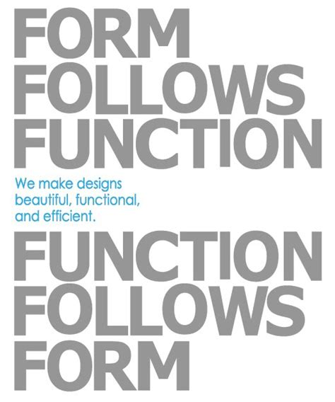 environmental design form follows function functions