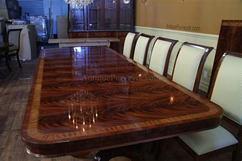 high end large mahogany dining table seats 12