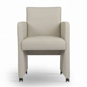 Chaise de salle a manger avec roulette for Meuble salle À manger avec chaise salle a manger cuir taupe