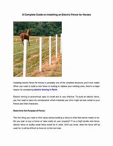 A Complete Guide On Installing An Electric Fence For