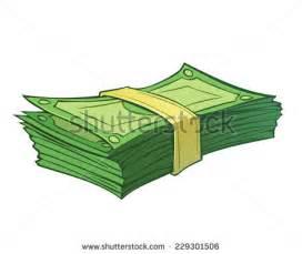 Cartoon Money Stack Vector