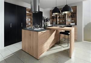 le bois s39installe dans vos cuisines plans pluriel With cuisine ardoise et bois