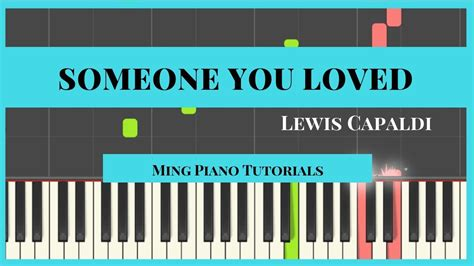 loved lewis capaldi piano cover tutorial
