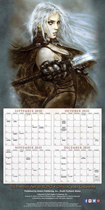 fantasy art  royo official  calendar