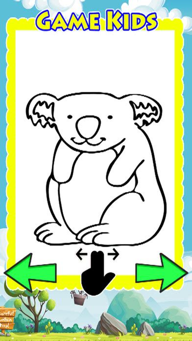 animal drawing games coloring book koala bear app