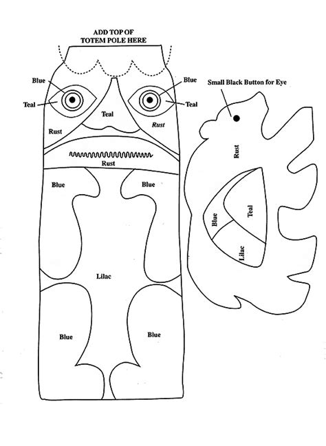 Totem Pole Bear Template by 17 Best Images About Native America For Kids On Pinterest