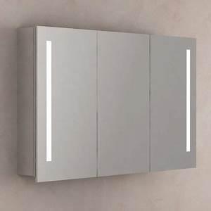 armoire de toilette eclairante glass 60 cm lunettes et With porte d entrée alu avec armoire salle de bain 120 cm