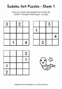 Printable Sudoku Worksheets Puzzles Printable Printable