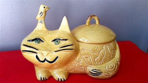 The Most Retro Kitty Cat Cookie Jar You Ever Find