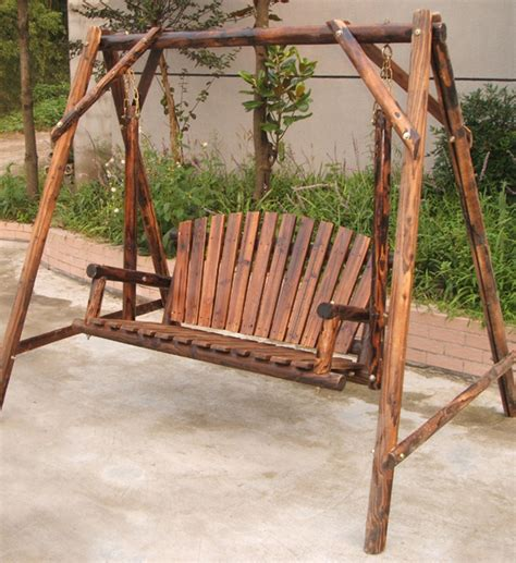 shop home garden patio furniture wooden log swing