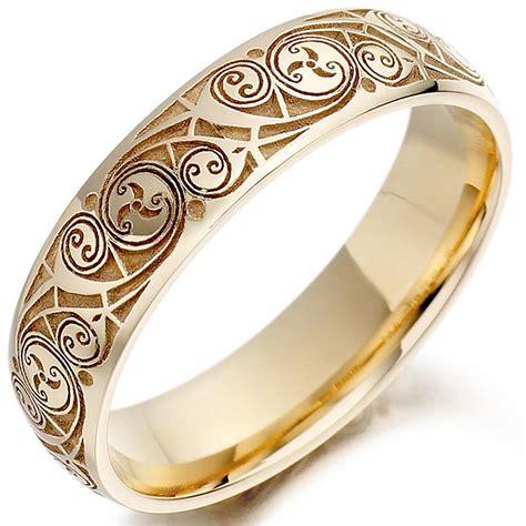 celtic wedding ring mens gold celtic spiral triskel