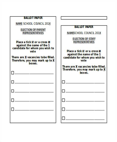 ballot template 18 paper templates in word free premium templates