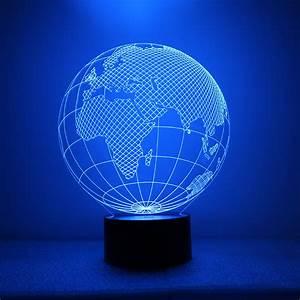 Earth Shape Lamp 3d Led World Map Night Light Usb Visual