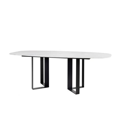beautiful contemporary oblong design dining room table