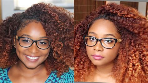 Burnt Orange Hair Color Black Girl