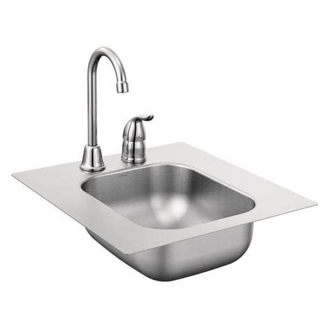 single basin stainless steel sink shop moen 2000 series single basin stainless steel drop in