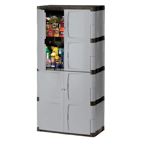 Rubbermaid Full Double Door Cabinet   Garage Cabinets at