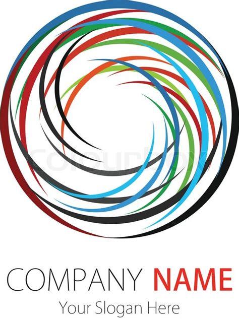 company business logo design vector circle stock vector colourbox