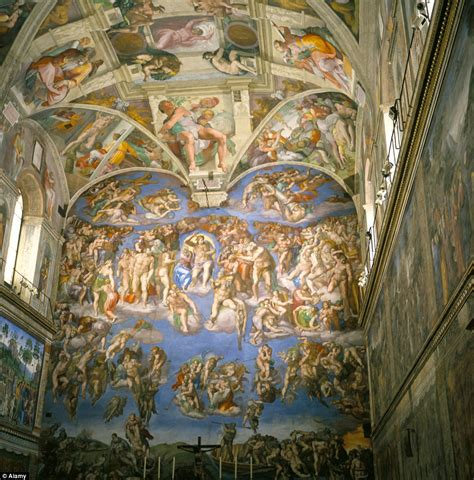 Painted The Ceiling Of The Sistine Chapel In Rome by Brighton Transforms His Council House Into Homage To