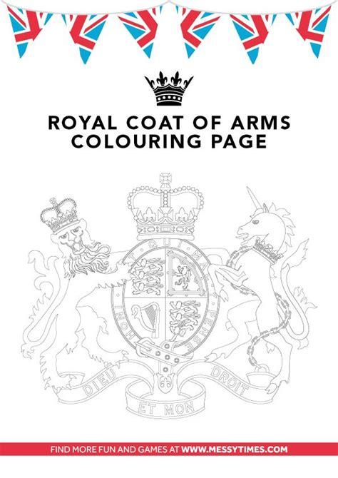 coat  arms colouring diamond jubilee  british pinterest coats diamonds