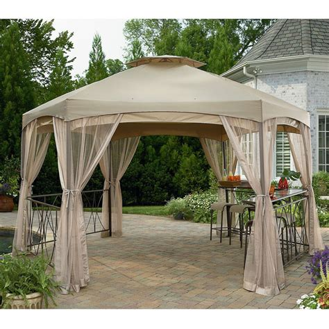 garden winds gazebo sears garden oasis clayton gazebo replacement canopy and