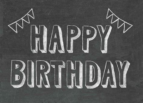 birthday chalkboard happy birthday chalkboard card by scissor monkeys notonthehighstreet