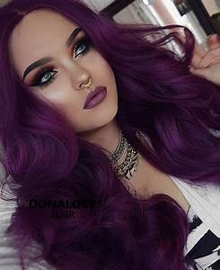 dark purple wavy waist length wig http://www.donalovehair ...