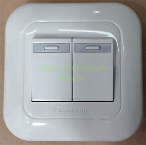 Jual Saklar Seri    Ganda Tanam Panasonic Wej 5531   Plat
