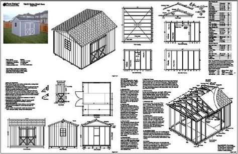 Free 10x12 Shed Plans Gable Roof by Free Plans On How To Build A 10x12 Shed Dan Pi