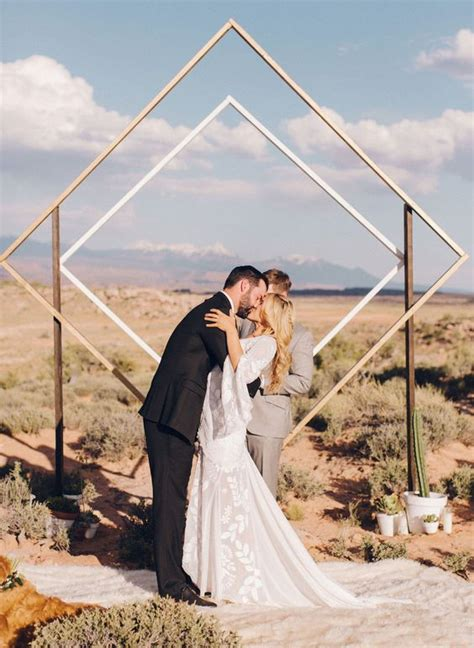 trendy geometric wedding backdrops weddingomania