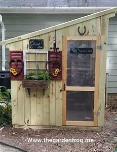Hometalk DIY Garden Shed from Picket Fence