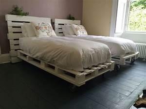 Comment Faire Un Lit En Palette : cama de palete como fazer 30 ideias artesanato passo a passo ~ Nature-et-papiers.com Idées de Décoration