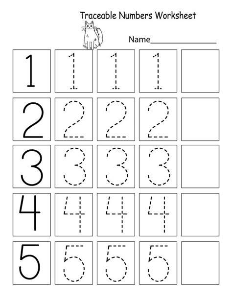trace number worksheets  preschoolers educative printable