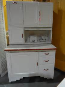antique hoosier cabinet red and white 1941 hoosier