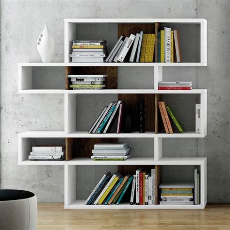 bureau 100 cm etagère design avec niche en bois blanc noyer 5