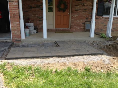 landscaping installing new paver walkway y finances