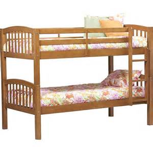 linon twin size convertible bunk bed honey bj s