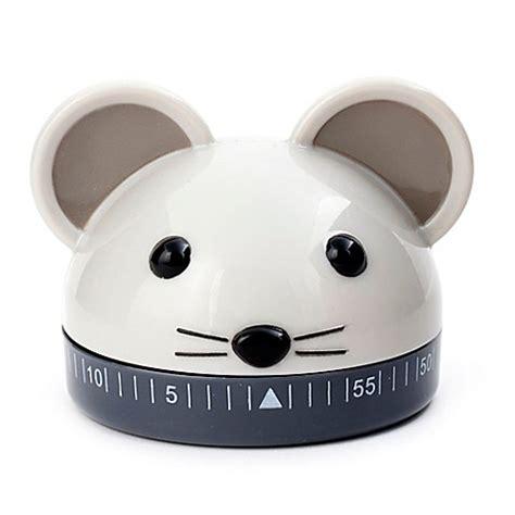 Mouse Kitchen Timer by Kikkerland 174 Mouse Kitchen Timer In Grey Bed Bath Beyond