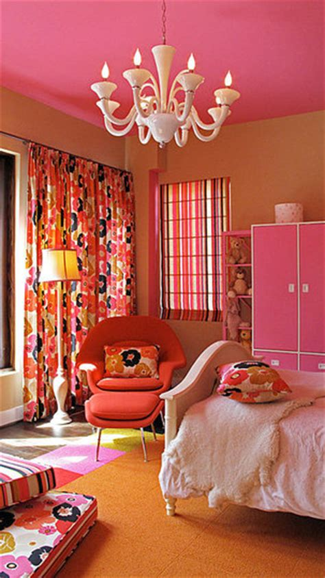 pink and orange bedrooms orange floral bedroom design dazzle