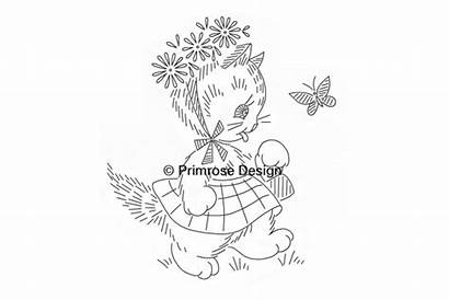 Embroidery Capers Kitten Patterns Primrosedesign