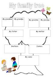 family tree esl worksheet  meitalzelig