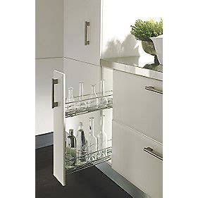 hafele cabinet pull outs hafele 150mm pull out unit chrome plated cabinet storage